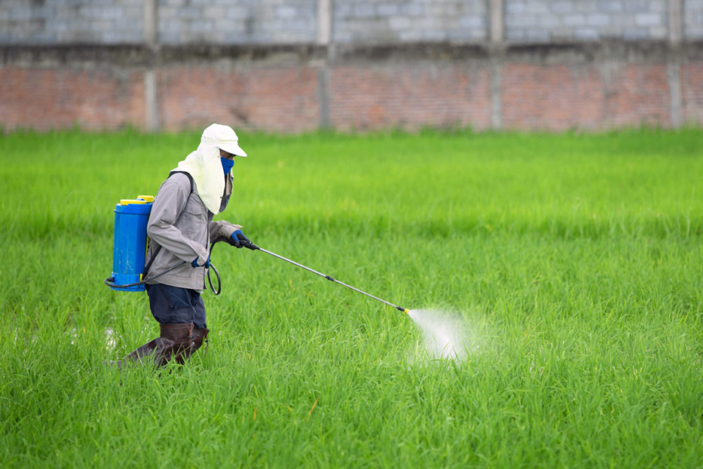 Pesticide application by adolescents has been linked to health problems such as attention-deficit hyperactivity disorder, according to the study.